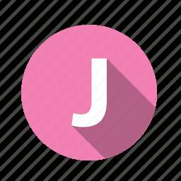 abc, alphabet, font, graphic, j, letter, text icon