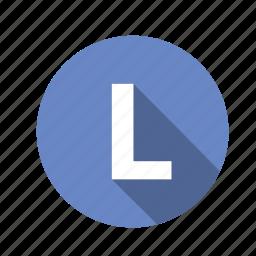 abc, alphabet, font, graphic, l, letter, text icon
