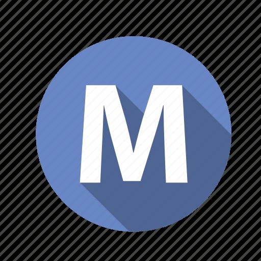 abc, alphabet, font, graphic, language, letter, m, text icon
