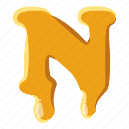 abc, alphabetic, font, honey, letter, shape, write icon