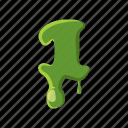 alphabet, decoration, font, letter, liquid, slime, zombie icon