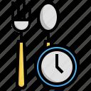 fasting, ramadan, meal, fork, spoon icon