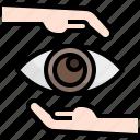 iridology, expansive, healthcare, medical, optical, visualize icon