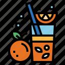 beverage, fruit, juice, orange icon