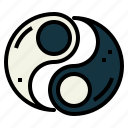 polarity, taoism, unity, yang, yin icon