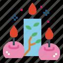 candle, illumination, light, ornamental