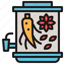 chinese, ginseng, herb, medicine, mixture icon