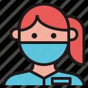 avatar, dentist, doctor, female, therapist icon