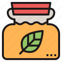 bottle, herbal, massage, oil, pain, remedies icon