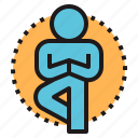 body, exercise, meditation, mind, yoga icon