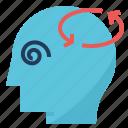 dizziness, headache, hurt, migraine, shock icon