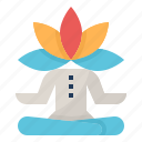 calm, meditation, mind, relaxation, spa icon