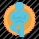 body, exercise, meditation, mind, yoga icon