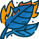 burn, disaster, leaf, leaves, pollution, tree, wildfire icon