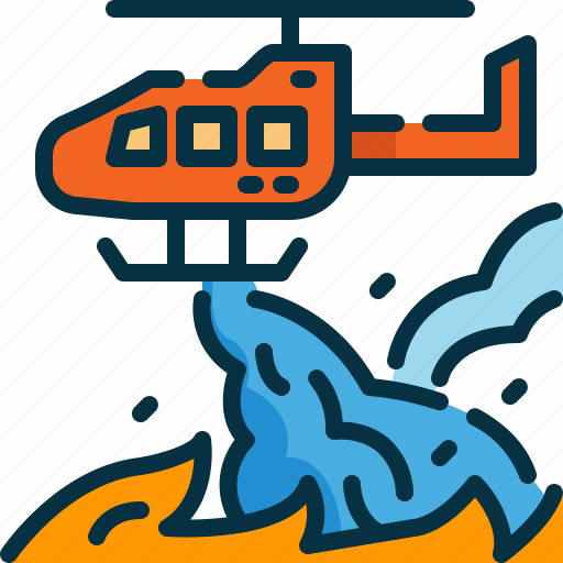 bomber, copter, extinguish, fire, firefighting, plane, wildfire icon