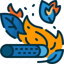 burn, cigarette, disaster, forest, smoking, stub, wildfire icon