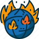 disaster, earth, global, pollution, smoke, wildfire, world icon