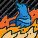 animal, burn, disaster, wildfirebear, wildlife icon