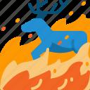 animal, burn, deer, die, disaster, wildfire, wildlife icon