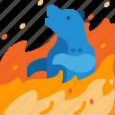 animal, bear, burn, disaster, wildfire, wildlife icon