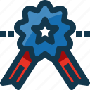 badge, medal, prize, reward, star, united states, usa