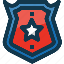 american, army, badge, medal, star, united states, usa icon