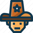 american, avatar, man, police, security, united states, usa icon