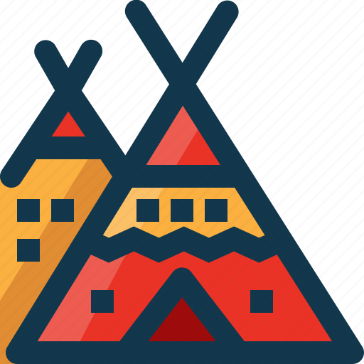 American, camp, culture, red indian, tent, traditional, usa icon - Download on Iconfinder