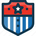 medal, protection, security, shield, star, united states, usa