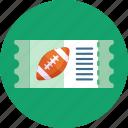american, football, sport, ticket, sports