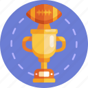 award, cup, achievement, football, prize, trophy, american