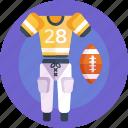 player gear, sportswear, jersey, football, sports wear, ball, american icon
