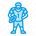 american, football, player, quarterback