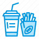 fries, snacks, soda icon