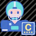 captain, football, game icon