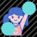 cheerleader, football, sport icon