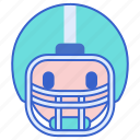 face, football, mask icon