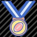 award, football, medal icon
