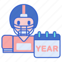 football, redshirt, year icon