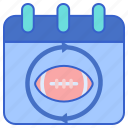 football, regular, season icon