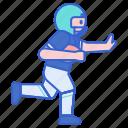 back, football, running
