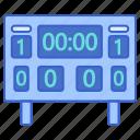 football, scoreboard, sport icon