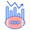 analytics, football, statistics icon