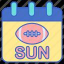 football, game, sunday icon