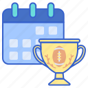 football, schedule, tournament icon