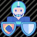 football, player, utility icon