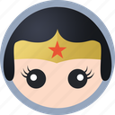 hero, wonder woman icon