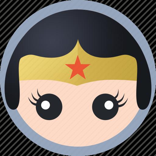 hero, wonder woman icon