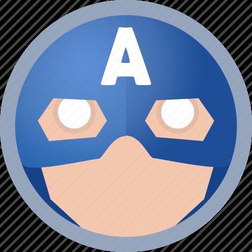american captain, hero icon
