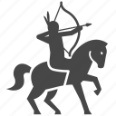 american, archer, horse, indian, war, warrior icon